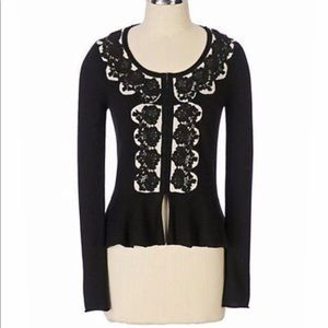 ANTHROPOLOGIE Guinevere Colette Lace Cardigan